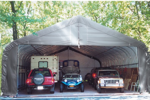 Vehicle Storage Shelter : Portable garage shelter storage buildings canopies