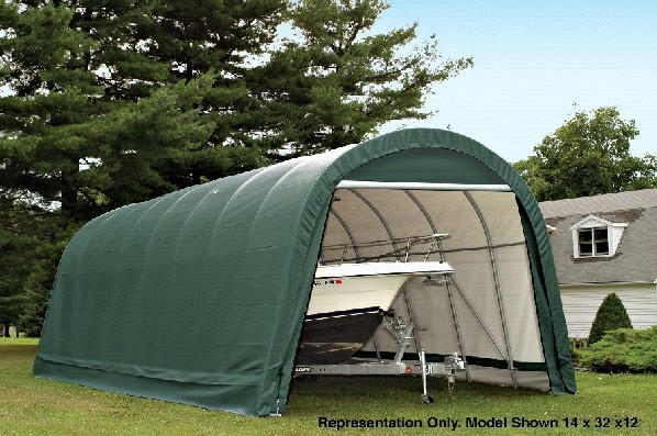 Metal Boat Shelter Kits : Portable garage shelter storage buildings canopies