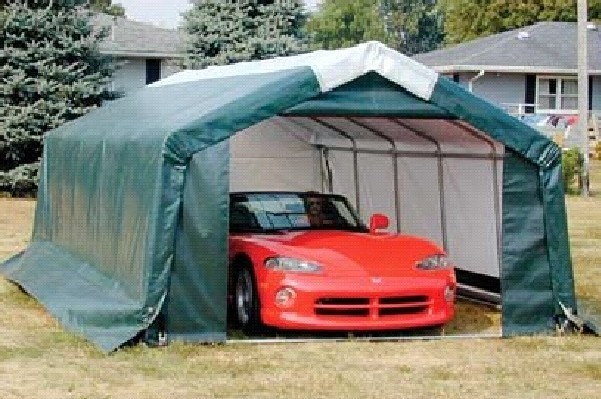 Portable Car Tent Garage : Portable garage shelter storage buildings canopies
