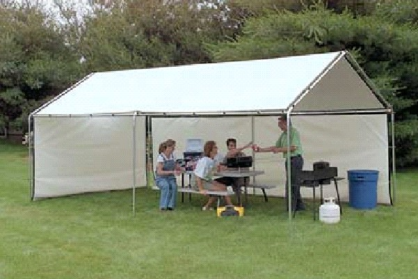 Portable Outdoor Canopy : Outdoor shade canopy portable garage shelter