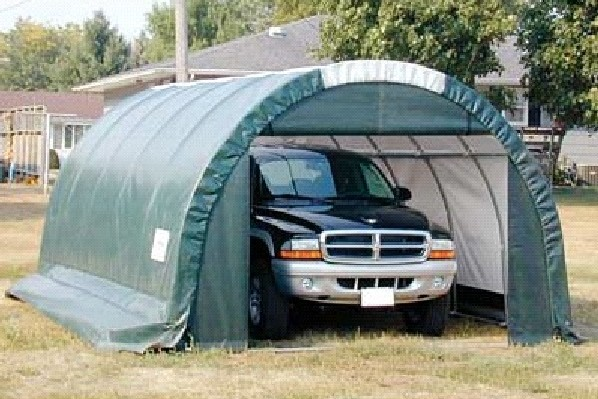 Tarp Shelter Garage : Round canvas garage portable shelter