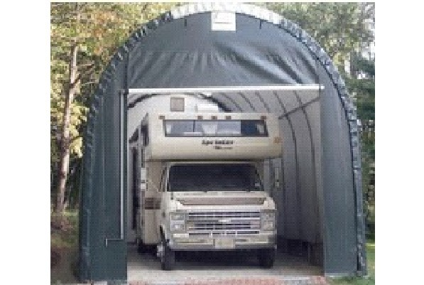 Canvas shelter portable garages and carports for Portable rv garage