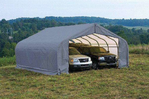 Fabric Car Shelters : Tarp carport kit portable shelters for outdoor storage