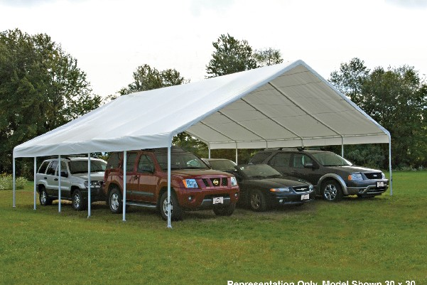 Enclosed canopy portable garage shelter for 30 x 40 carport