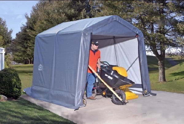 Portable Storage Shelters : Portable tent shelters temporary outdoor storage
