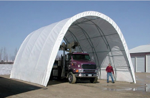 Fabric Car Shelters : Tall hoop buildings and structures portable garage shelter