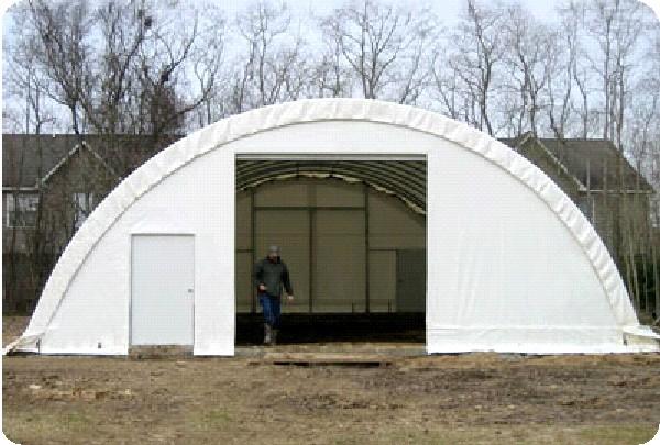 Canvas Covered Garages : Hoop garage portable shelter